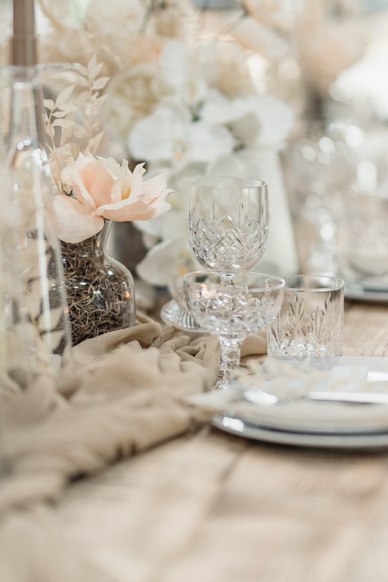 wedding crystal glassware