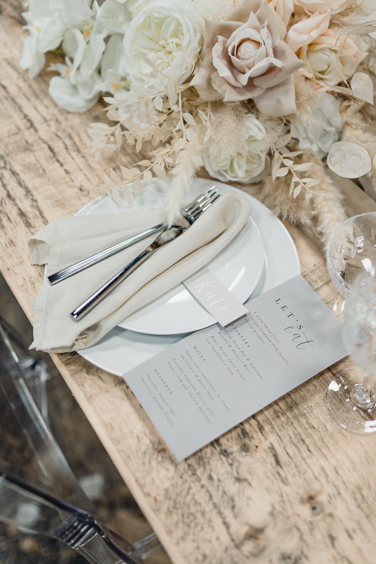 Wedding table styling ideas uk